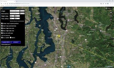 Moving map for Flight Simulator - FS Earth Plus