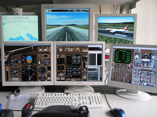 Multi monitor in Flight Simulator