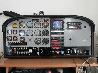 Cessna C-182 RG real cockpit for Flight Simulator